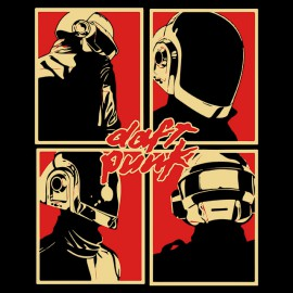 tee shirt daft punk logo en noir