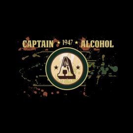 tee shirt captin alcohol noir