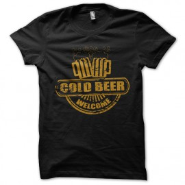 tee shirt cold beer noir