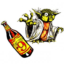 tee shirt yoda beer blanc