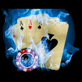 tee shirt Firerblue Poker noir