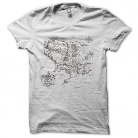 Tee Shirt Carte Middle Earth Blanc