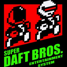 tee shirt super daft bros noir