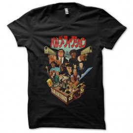 tee shirt pulp fiction version manga noir