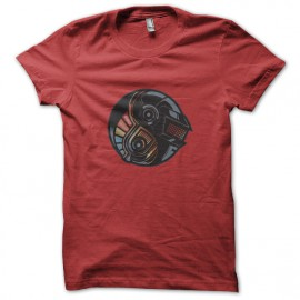 tee shirt DAFT PUNK YIN YANG red