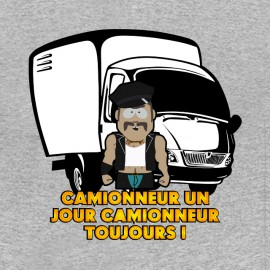 tee shirt Trucker grey