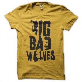tee shirt big bad wolves film tarantino jaune
