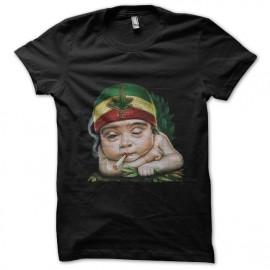 tee shirt rasta baby noir
