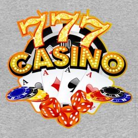 tee shirt casino 777 grey