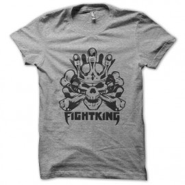 tee shirt Fighting MMA noir