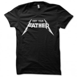 Tee Shirt Obey Your Father White on Black