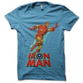 tee shirt Iron Man Water turquoise mixtes tous ages