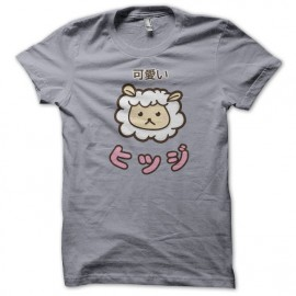 Tee Shirt mouton Kawaii gris