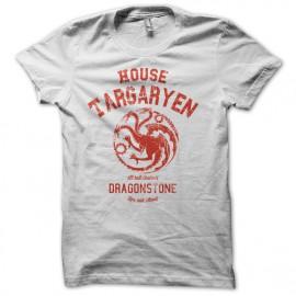 Tee Shirt GoT house Targaryen University Blanc