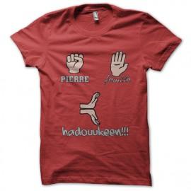 tee shirt pierre feuille hadouken rouge
