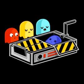 tee shirt Ghost busted noir