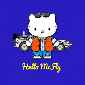 tee shirt hello mcfly blue
