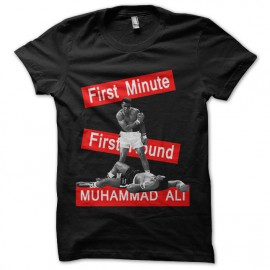 tee shirt muhammad ali noir