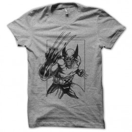 tee shirt wolvies comic grey