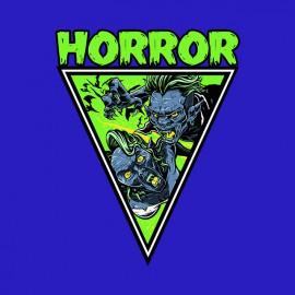 tee shirt horror blue