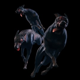 tee shirt Dog Zombie black