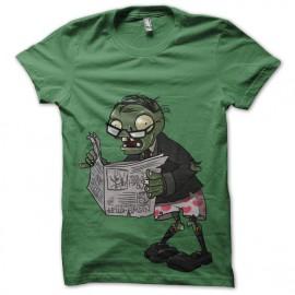 tee shirt Newspaper Zombie kelly green