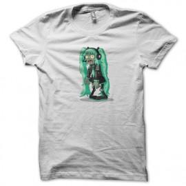tee shirt miku zombie white