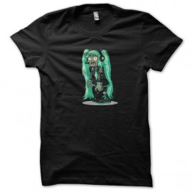 tee shirt miku zombie black