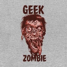 tee shirt Geek Zombie grey