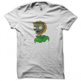 tee shirt Sun flower Zombie  white