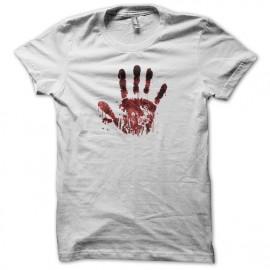 tee shirt hands blood white