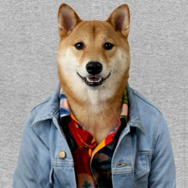 tee shirt menswear dog heath grey