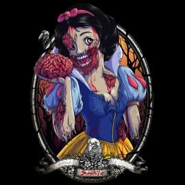 tee shirt zombie snow white black