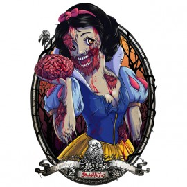 tee shirt zombie snow white white