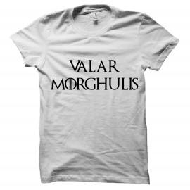 tee shirt Valar Morghulis blanc mixtes tous ages