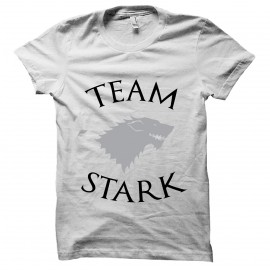 tee shirtTeam Stark blanc mixtes tous ages