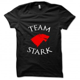 tee shirt Team Stark noir mixtes tous ages
