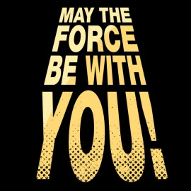 Tee Shirt SW May the force be with you NOIR