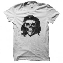 tee shirt che guevara skull blanc
