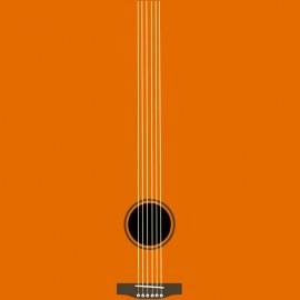 tee shirt guitar orange