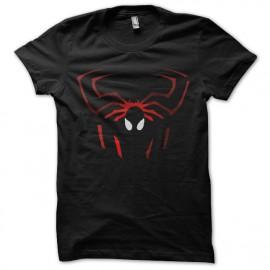 tee shirt spiderman logo effets ombre noir