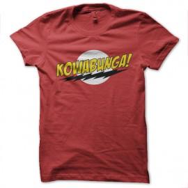 tee shirt kowabunga parodie bazinga rouge