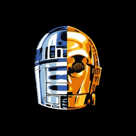 tee shirt android star wars daft punk noir