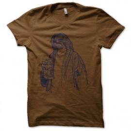 tee shirt le duc lebowski marron
