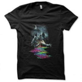 tee shirt zombis licorne noir