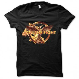 tee shirt Hunger Games Fight noir mixtes tous ages