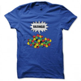 tee shirt bazinga gum bleu royal