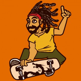 rasta skateboard reggae dub style