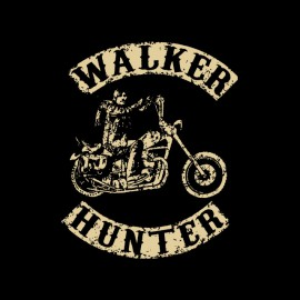 tee shirt Daryl Dixon the walker hunter parodie SOA creme sur noir