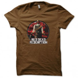 tee shirt red dead redemption marron